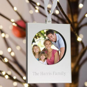 Personalized Ornaments - Christmas Ornaments - Silver Frame-Personalized Gifts