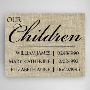 Personalized Our Children Canvas Sign-Personalized Gifts