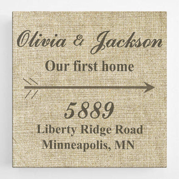 Personalized Our First Home Canvas Sign-Personalized Gifts