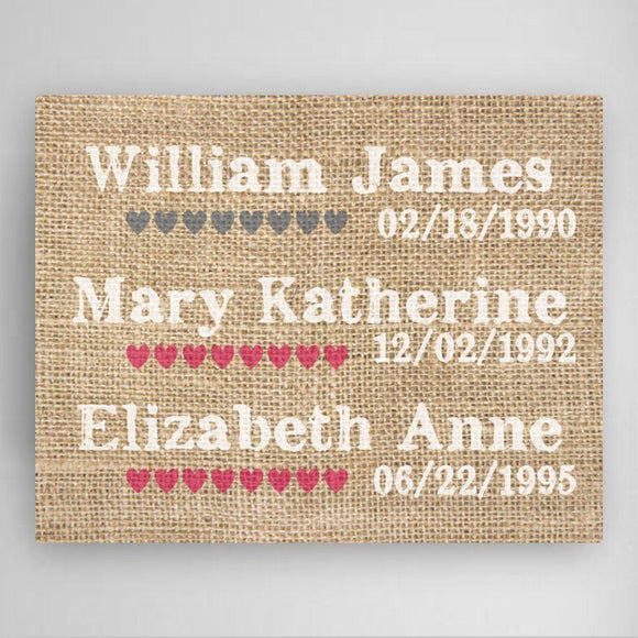 Personalized Our Kids Canvas Sign-Personalized Gifts