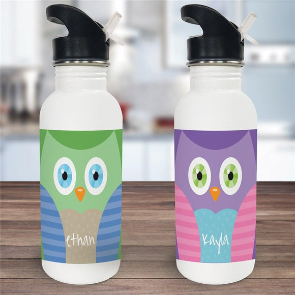 Personalized Owl Water Bottle-Personalized Gifts