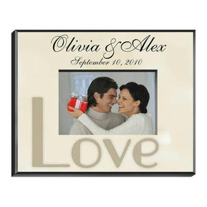 Personalized Parchment Love Picture Frame-Personalized Gifts