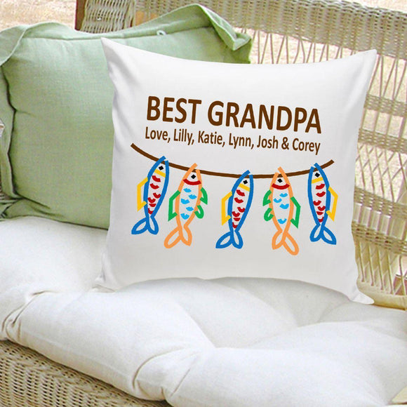 Personalized Parent Throw Pillow - Grandpa's Crew-Personalized Gifts