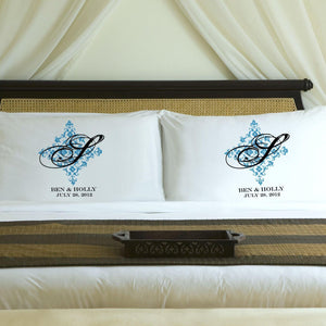 Personalized Perfect Panache Couples Pillow Case Set-Personalized Gifts