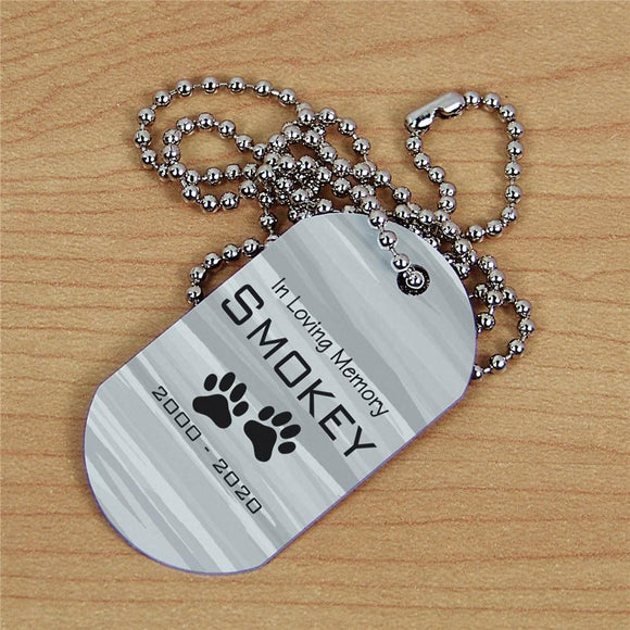 Personalized Pet Memorial Dog Tag-Personalized Gifts