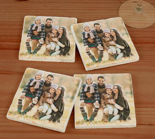 Personalized Photo Marble Coasters-Personalized Gifts