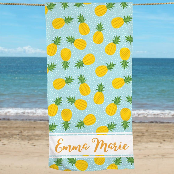 Personalized Pineapple Beach Towel-Personalized Gifts