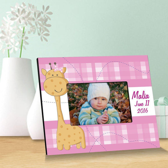 Personalized Pink Baby Giraffe Children Picture Frames-Personalized Gifts