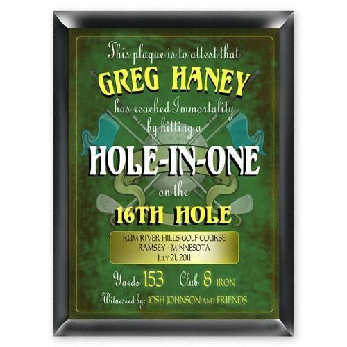 Personalized Plaques - Hole in One - Golf - Gifts for Dad-Personalized Gifts