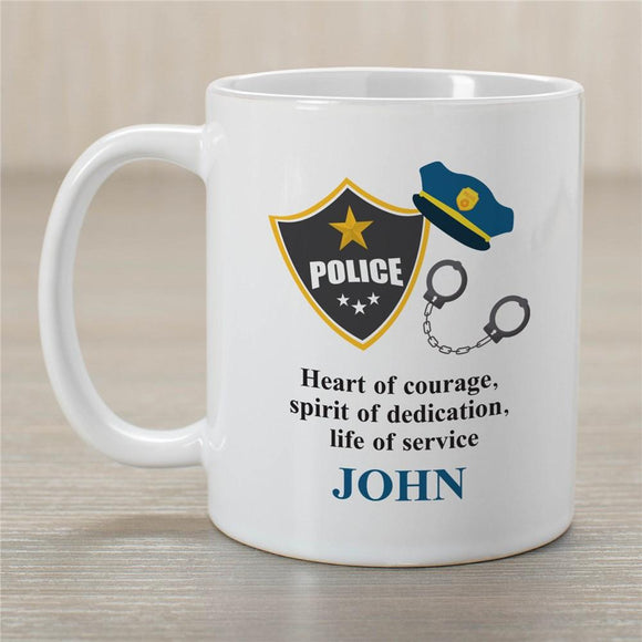 Personalized Police Coffee Mug-Personalized Gifts