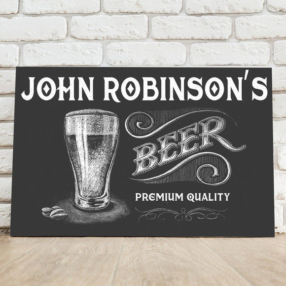 Personalized Premium Beer Canvas Sign-Personalized Gifts