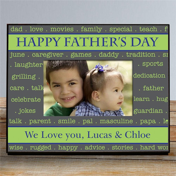 Personalized Printed Happy Father's Day Frame-Personalized Gifts