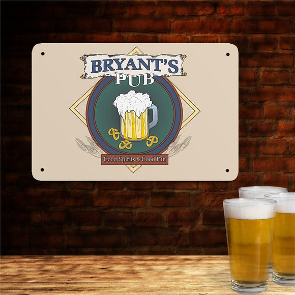 Personalized Pub Metal Wall Sign-Personalized Gifts