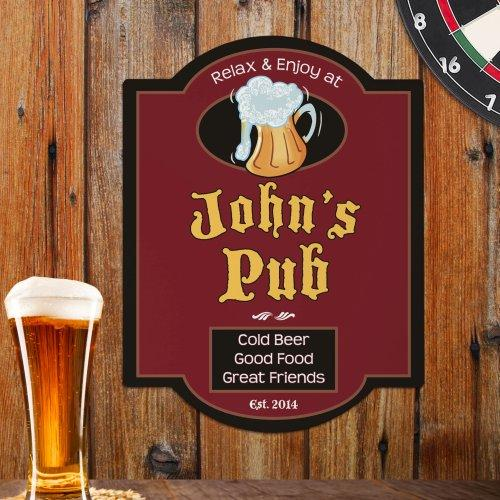 Personalized Pub Wall Sign-Personalized Gifts