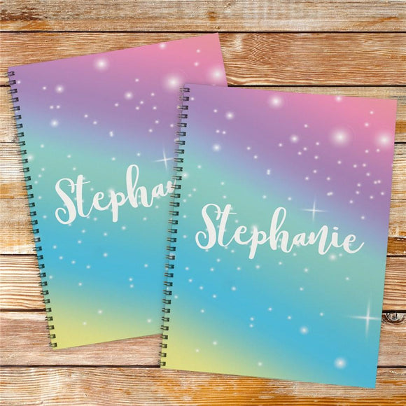 Personalized Rainbow Notebook Set-Personalized Gifts