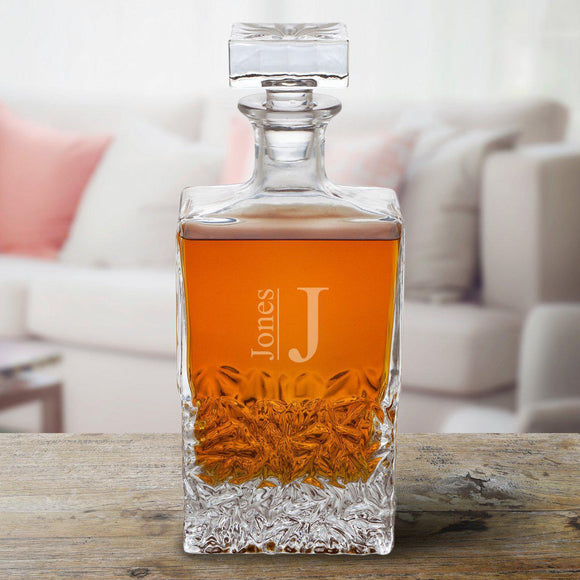 Personalized Rectangular 24 oz. Decanter – Whiskey-Personalized Gifts