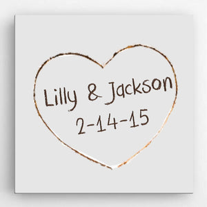 Personalized Romance Love Canvas Sign-Personalized Gifts