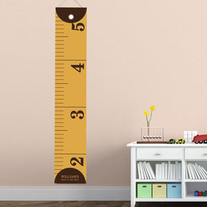Personalized Ruler Growth Chart for Boys - Ruler Height Chart-Personalized Gifts
