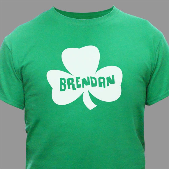 Personalized Shamrock Name Green T-Shirt-Personalized Gifts