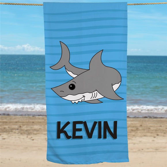 Personalized Shark Beach Towel-Personalized Gifts