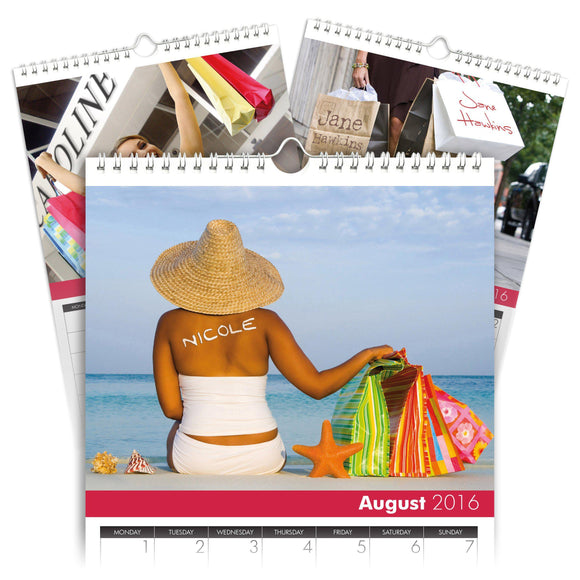 Personalized Shop 'til you Drop Calendar-Personalized Gifts