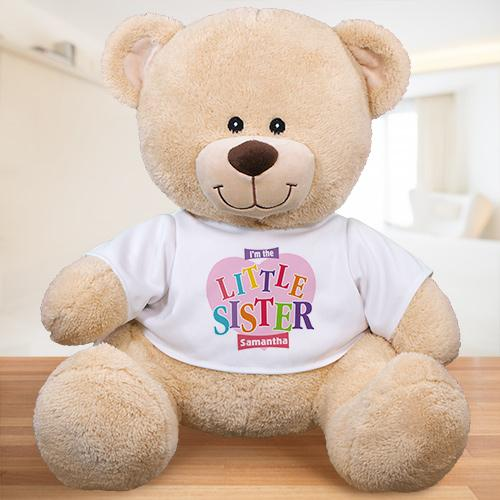Personalized Sister Heart Teddy Bear-Personalized Gifts
