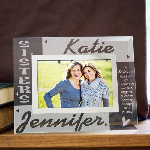 Personalized Sisters Glass Photo Frame-Personalized Gifts