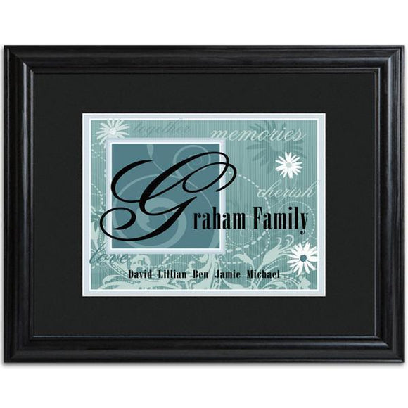 Personalized Slate Family Name Frame-Personalized Gifts