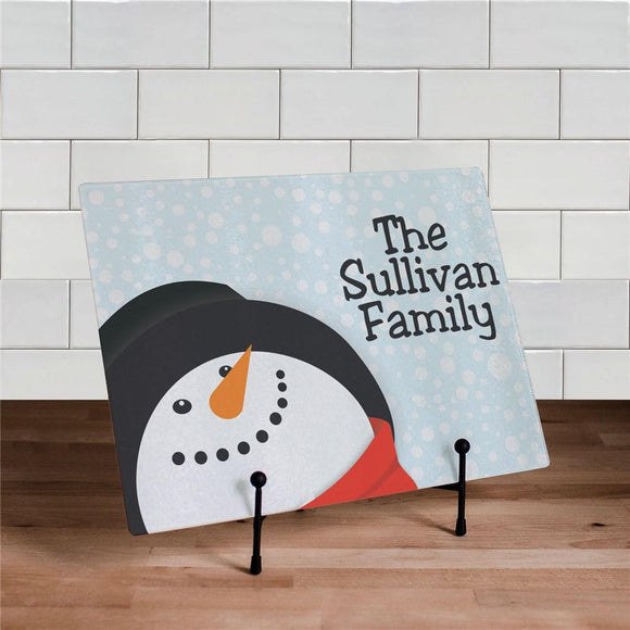 Personalized Snowman Cutting Board-Personalized Gifts