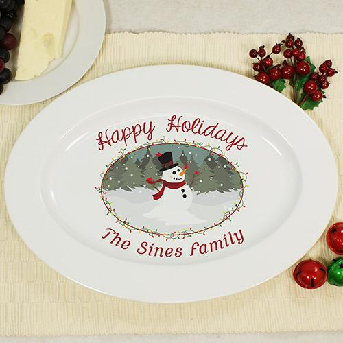 Personalized Snowman Platter-Personalized Gifts