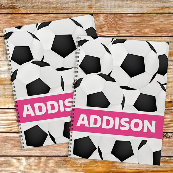Personalized Soccer Notebook Set-Personalized Gifts