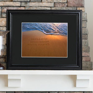 Personalized Sparkling Sands Sign w/Wood Frame-Personalized Gifts