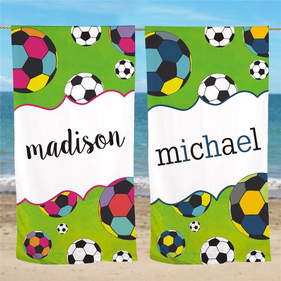 Personalized Sports Beach Towel-Personalized Gifts