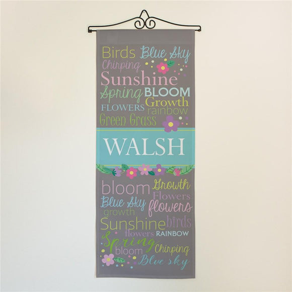 Personalized Spring Time Door Banner-Personalized Gifts