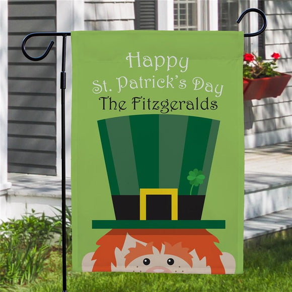 Personalized St. Patrick's Day Garden Flag-Personalized Gifts