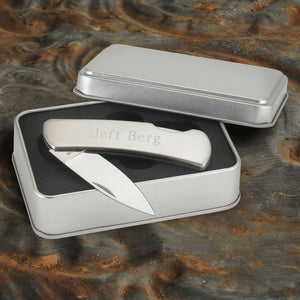 Personalized Stainless Steel Lock-Back Pocket Knife-Personalized Gifts