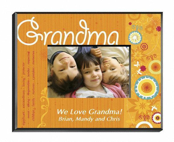 Personalized Sunshine and Flowers Frame - Grandma-Personalized Gifts