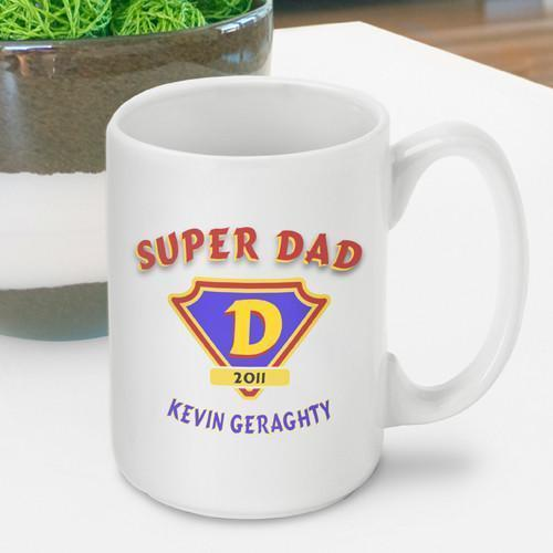 Personalized Super Dad Coffee Mug-Personalized Gifts
