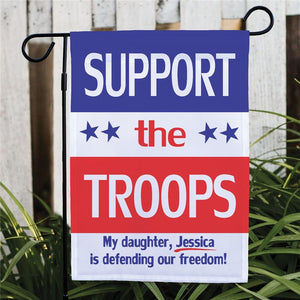 Personalized Support Our Troops Garden Flag-Personalized Gifts