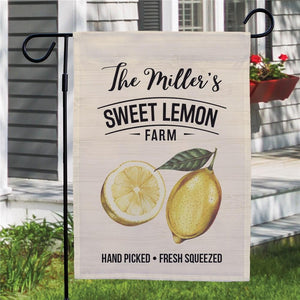 Personalized Sweet Lemon Farm Garden Flag-Personalized Gifts