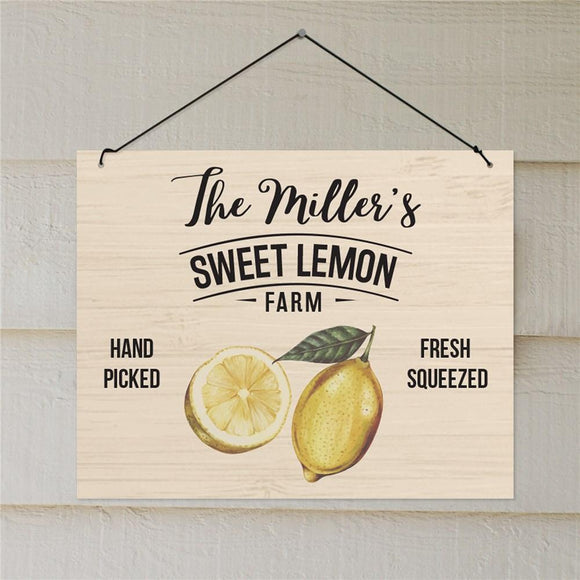 Personalized Sweet Lemon Farm Wall Sign-Personalized Gifts