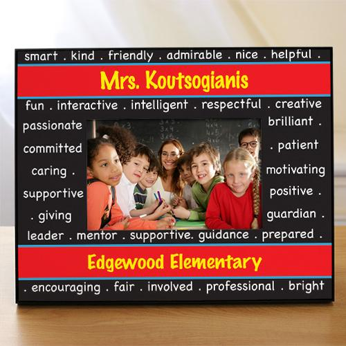 Personalized Teacher Printed Photo Frame-Personalized Gifts