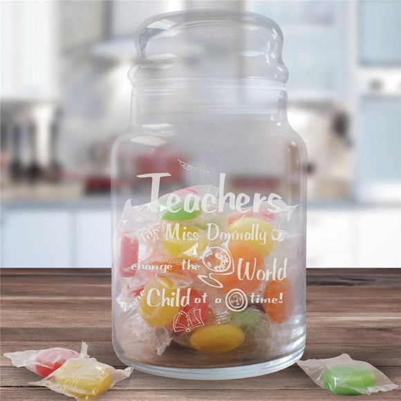 Personalized Teacher Treat Jar-Personalized Gifts