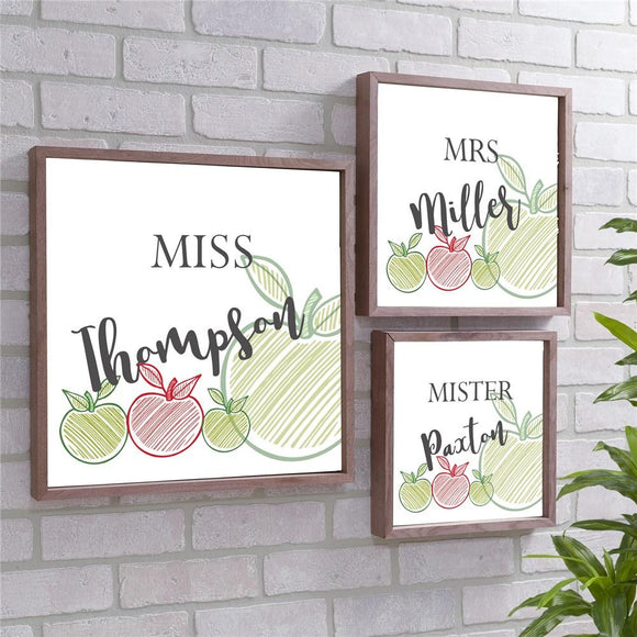 Personalized Teacher Wood Pallet Wall Decor-Personalized Gifts