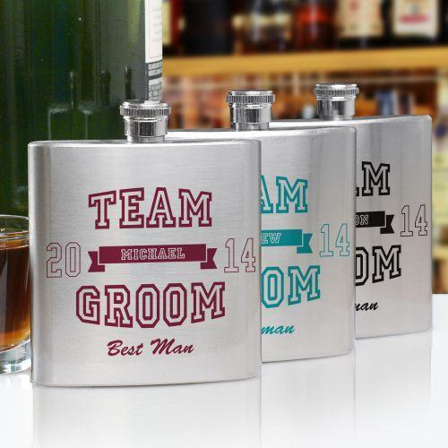 Personalized Team Groom Flask-Personalized Gifts