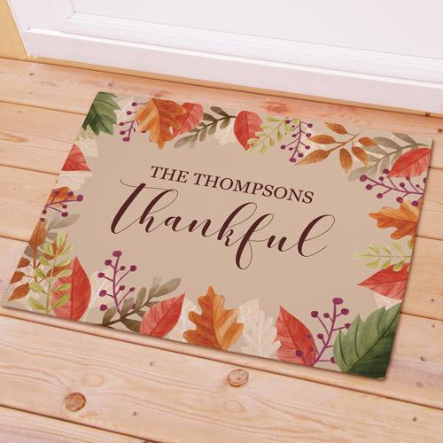 Personalized Thankful Doormat-Personalized Gifts