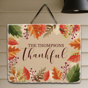 Personalized Thankful Slate Plaque-Personalized Gifts