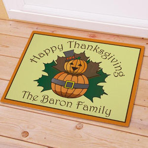 Personalized Thanksgiving Doormat-Personalized Gifts
