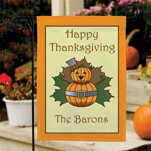 Personalized Thanksgiving Garden Flag-Personalized Gifts