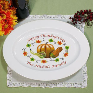 Personalized Thanksgiving Platter-Personalized Gifts